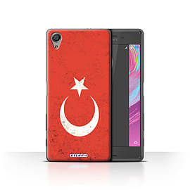 STUFF4 Case/Cover for Sony Xperia X Performance / Turkey/Turkish Design / Flags Collection Mobile phones