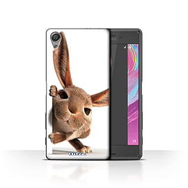 STUFF4 Case/Cover for Sony Xperia X Performance / Peeking Bunny Design / Funny Animals Collection Mobile phones