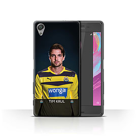 Newcastle United FC Case/Cover for Sony Xperia X Performance/Krul Design/NUFC Football Player 15/16 Mobile phones