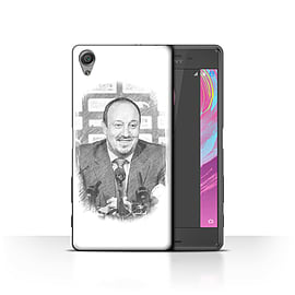 Newcastle United FC Case/Cover for Sony Xperia X Performance/Sketch Design/NUFC Rafa Ben?tez Mobile phones