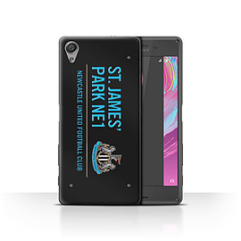 Newcastle United FC Case/Cover for Sony Xperia X Performance/Black/Blue Design/St James Park Sign Mobile phones