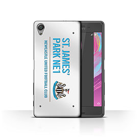 Newcastle United FC Case/Cover for Sony Xperia X Performance/White/Blue Design/St James Park Sign Mobile phones