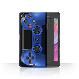 STUFF4 Case/Cover for Sony Xperia X Performance / Blue Design / Playstation PS4 Collection Mobile phones