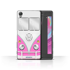 STUFF4 Case/Cover for Sony Xperia X Performance / Pink Design / VW Camper Van Collection Mobile phones