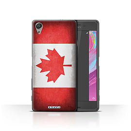 STUFF4 Case/Cover for Sony Xperia X Performance / Canada/Canadian Design / Flags Collection Mobile phones