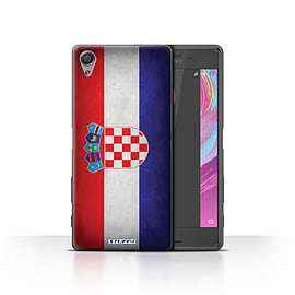 STUFF4 Case/Cover for Sony Xperia X Performance / Croatia/Croatian Design / Flags Collection Mobile phones