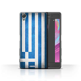 STUFF4 Case/Cover for Sony Xperia X / Greece/Greek Design / Flags Collection Mobile phones