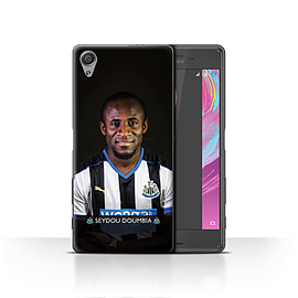 Official Newcastle United FC Case/Cover for Sony Xperia X/Doumbia Design/NUFC Football Player 15/16 Mobile phones
