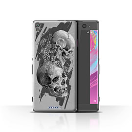 STUFF4 Case/Cover for Sony Xperia XA / Thorns Design / Skull Art Sketch Collection Mobile phones