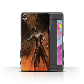 Official Chris Cold Case/Cover for Sony Xperia X / Black Wings Design / Dark Art Demon Collection Mobile phones
