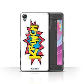 STUFF4 Case/Cover for Sony Xperia X / Krunch Design / Comics/Cartoon Words Collection Mobile phones