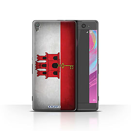 STUFF4 Case/Cover for Sony Xperia XA / Gibraltar/Gibraltarian Design / Flags Collection Mobile phones
