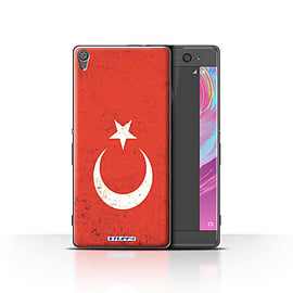 STUFF4 Case/Cover for Sony Xperia XA / Turkey/Turkish Design / Flags Collection Mobile phones