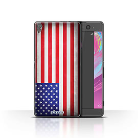 STUFF4 Case/Cover for Sony Xperia XA / America/American/USA Design / Flags Collection Mobile phones