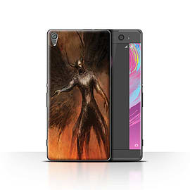 Official Chris Cold Case/Cover for Sony Xperia XA / Black Wings Design / Dark Art Demon Collection Mobile phones