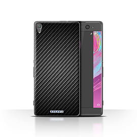 STUFF4 Case/Cover for Sony Xperia XA / Grey Design / Carbon Fibre Effect/Pattern Collection Mobile phones