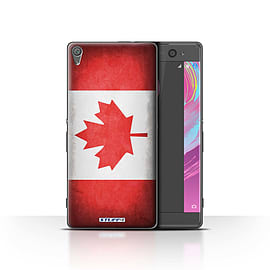 STUFF4 Case/Cover for Sony Xperia XA / Canada/Canadian Design / Flags Collection Mobile phones