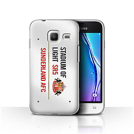 Sunderland AFC Case/Cover for Samsung Galaxy J1 Nxt/Mini/White/Red Design/SAFC Stadium of Light Sign Mobile phones