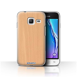 STUFF4 Case/Cover for Samsung Galaxy J1 Nxt/Mini/Beech Design/Wood Grain Effect/Pattern Mobile phones