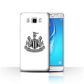 Newcastle United FC Case/Cover for Samsung Galaxy J5 2016/Mono/White Design/NUFC Football Crest Mobile phones