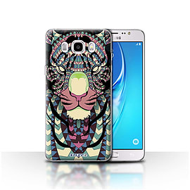 STUFF4 Case/Cover for Samsung Galaxy J5 2016 / Tiger-Colour Design / Aztec Animal Design Collection Mobile phones