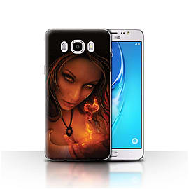 Official Elena Dudina Case/Cover for Samsung Galaxy J5 2016/Flaming Heart Design/Love Art Mobile phones