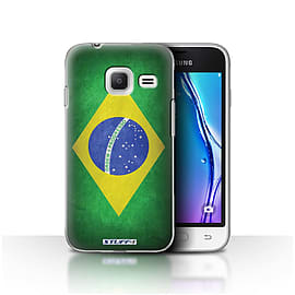 STUFF4 Case/Cover for Samsung Galaxy J1 Nxt/Mini / Brazil/Brazilian Design / Flags Collection Mobile phones