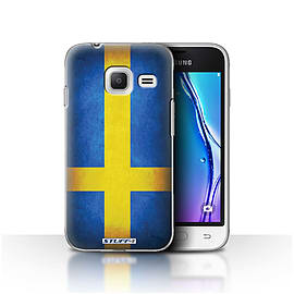 STUFF4 Case/Cover for Samsung Galaxy J1 Nxt/Mini / Sweden/Swedish Design / Flags Collection Mobile phones