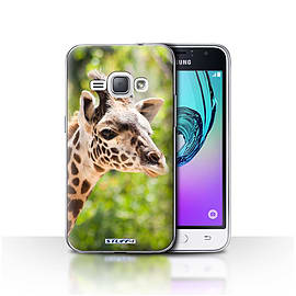 STUFF4 Case/Cover for Samsung Galaxy J1 2016 / Giraffe Design / Wildlife Animals Collection Mobile phones