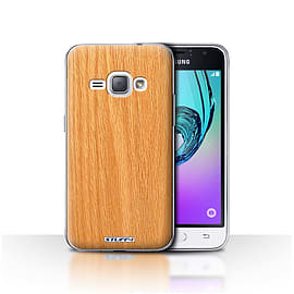 STUFF4 Case/Cover for Samsung Galaxy J1 2016 / Pine Design / Wood Grain Effect/Pattern Collection Mobile phones