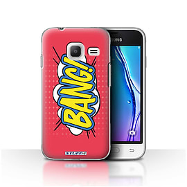 STUFF4 Case/Cover for Samsung Galaxy J1 Nxt/Mini / Bang! Design / Comics/Cartoon Words Collection Mobile phones