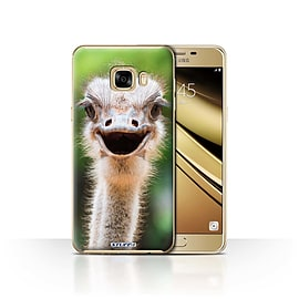 STUFF4 Case/Cover for Samsung Galaxy C7 / Ostrich/Emu Design / Wildlife Animals Collection Mobile phones