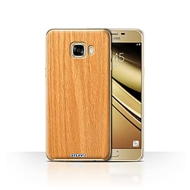 STUFF4 Case/Cover for Samsung Galaxy C7 / Pine Design / Wood Grain Effect/Pattern Collection Mobile phones