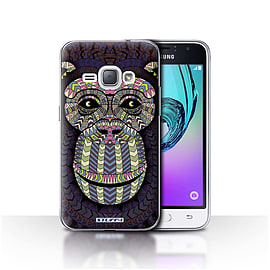 STUFF4 Case/Cover for Samsung Galaxy J1 2016 / Monkey-Colour Design / Aztec Animal Design Collection Mobile phones