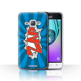 STUFF4 Case/Cover for Samsung Galaxy J1 2016 / Zap Design / Comics/Cartoon Words Collection Mobile phones