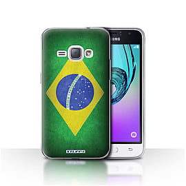 STUFF4 Case/Cover for Samsung Galaxy J1 2016 / Brazil/Brazilian Design / Flags Collection Mobile phones