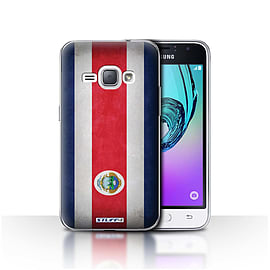 STUFF4 Case/Cover for Samsung Galaxy J1 2016 / Costa Rica/Rican Design / Flags Collection Mobile phones