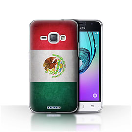 STUFF4 Case/Cover for Samsung Galaxy J1 2016 / Mexico/Mexican Design / Flags Collection Mobile phones