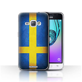 STUFF4 Case/Cover for Samsung Galaxy J1 2016 / Sweden/Swedish Design / Flags Collection Mobile phones