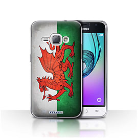 STUFF4 Case/Cover for Samsung Galaxy J1 2016 / Wales/Welsh Design / Flags Collection Mobile phones