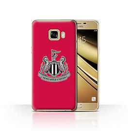Official Newcastle United FC Case/Cover for Samsung Galaxy C7/Mono/Red Design/NUFC Football Crest Mobile phones