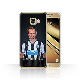 Newcastle United FC Case/Cover for Samsung Galaxy C7/De Jong Design/NUFC Football Player 15/16 Mobile phones