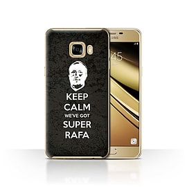 Official Newcastle United FC Case/Cover for Samsung Galaxy C7/Keep Calm Design/NUFC Rafa Ben?tez Mobile phones