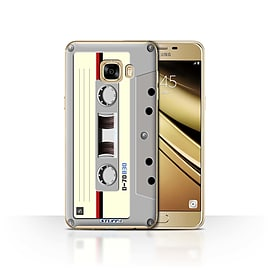STUFF4 Case/Cover for Samsung Galaxy C7 / Compact Cassette Tape Design / Retro Tech Collection Mobile phones
