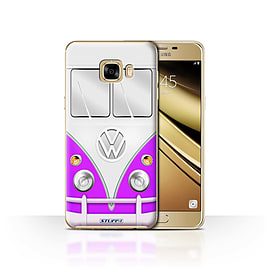 STUFF4 Case/Cover for Samsung Galaxy C7 / Purple Design / VW Camper Van Collection Mobile phones
