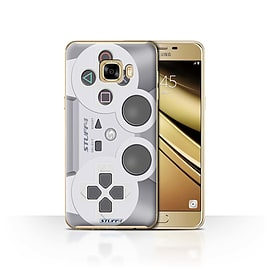 STUFF4 Case/Cover for Samsung Galaxy C7 / Playstation PS1 Design / Games Console Collection Mobile phones