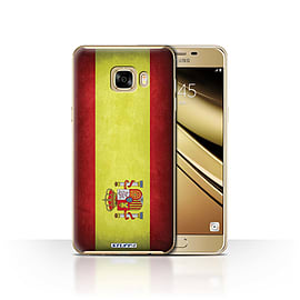 STUFF4 Case/Cover for Samsung Galaxy C7 / Spain/Spanish Design / Flags Collection Mobile phones