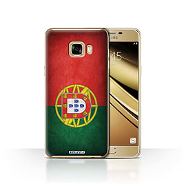 STUFF4 Case/Cover for Samsung Galaxy C7 / Portugal/Portuguese Design / Flags Collection Mobile phones
