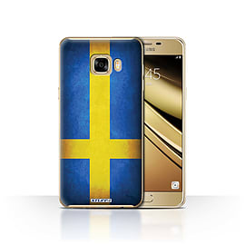 STUFF4 Case/Cover for Samsung Galaxy C7 / Sweden/Swedish Design / Flags Collection Mobile phones