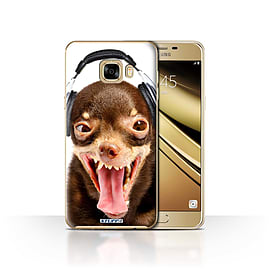 STUFF4 Case/Cover for Samsung Galaxy C7 / Ridiculous Dog Design / Funny Animals Collection Mobile phones